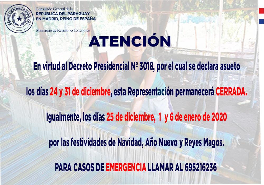 Consulado General Del Paraguay En Madrid Reino De España