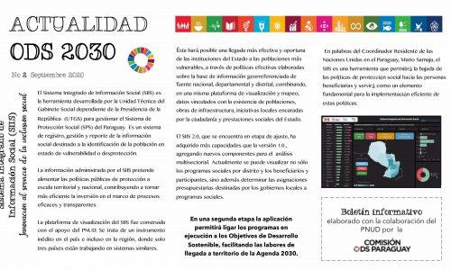 Boletín Informativo Nº 2, Septiembre 2020