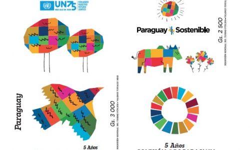 Estampillas: 5°Aniversario de la Agenda 2030 y el 75°Aniversario de la ONU