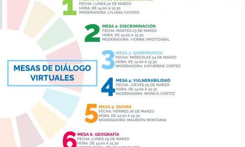 Mesas de Diálogo Virtuales